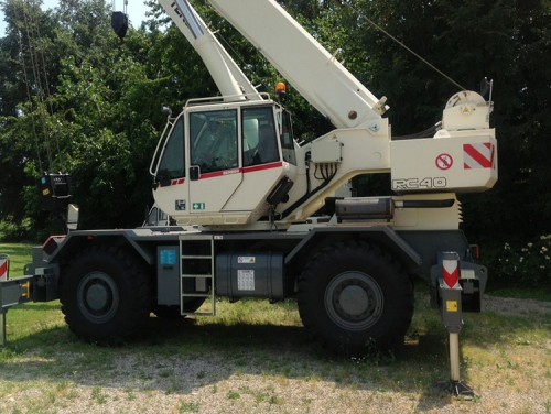 Terex RC 40 reach 42 tons 2008 sold to an Italian customer