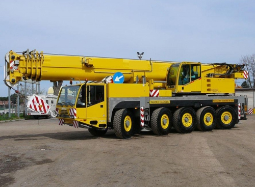 Truck crane 100 ton capacity Demag AC 100 2002 sold to an Italian customer