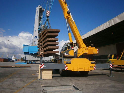 Tecnotrades sold new mobile crane Locatelli Gril 8700T to a Libyan customer